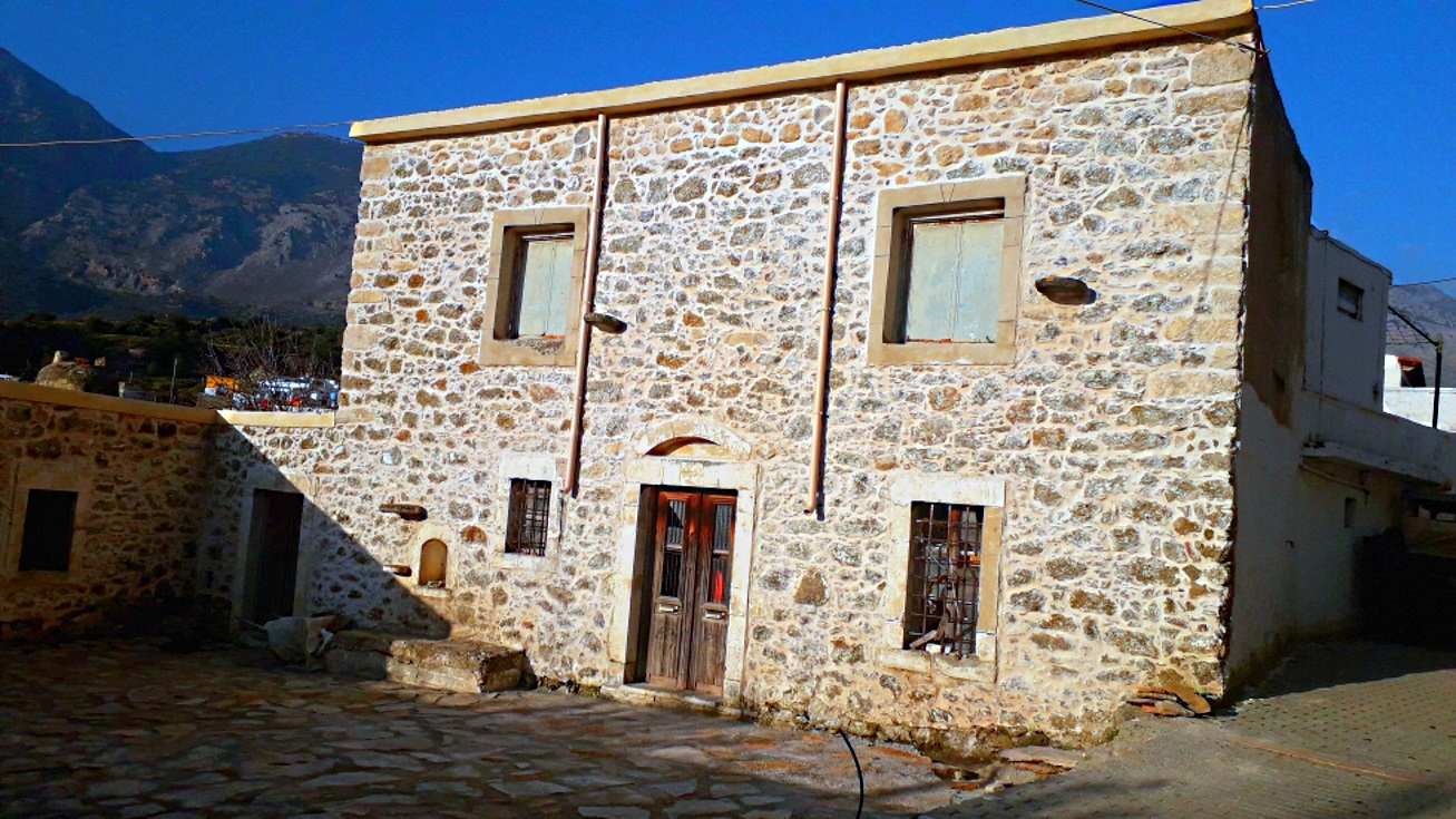 Old stone house located in a quiet mountainous area…