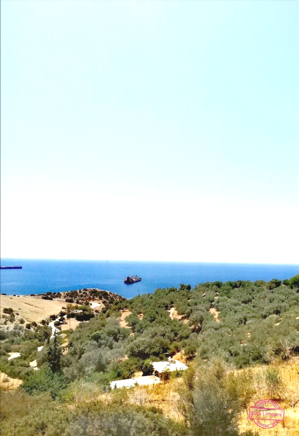 Kali Limenes. Plot with fantastic views of the Libyan Sea.